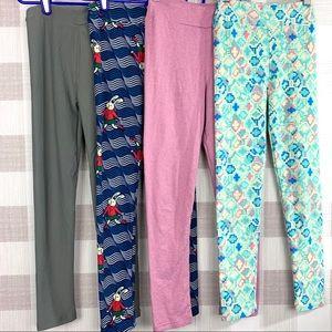 Lularoe Girls Legging Bundle Of 4 Size L/XL